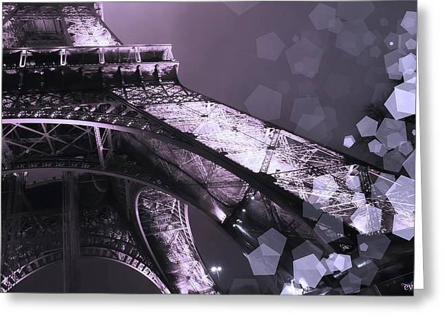 Pink Eiffel French Icon Greeting Card by Evie Carrier