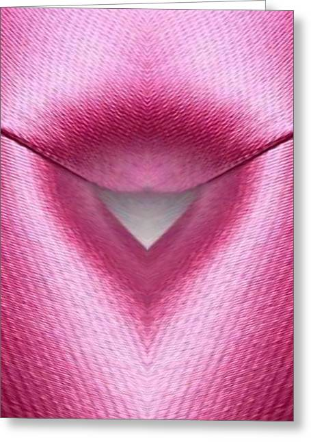 Pink Fabric Greeting Card