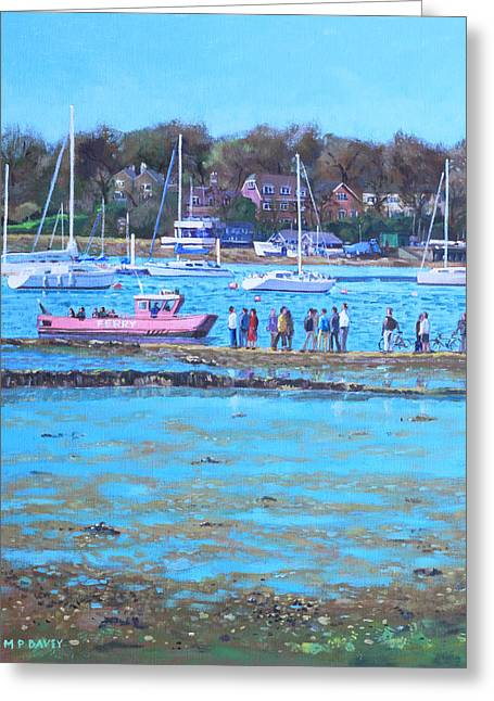 Pink Ferry On The River Hamble Greeting Card