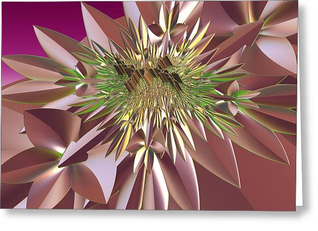 Greeting Card featuring the digital art Pink Flowers by Melissa Messick