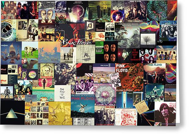 Pink Floyd Collage I Greeting Card