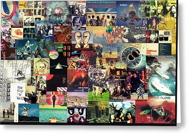 Pink Floyd Collage II Greeting Card