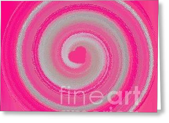 Greeting Card featuring the digital art Pink Fluff by Catherine Lott