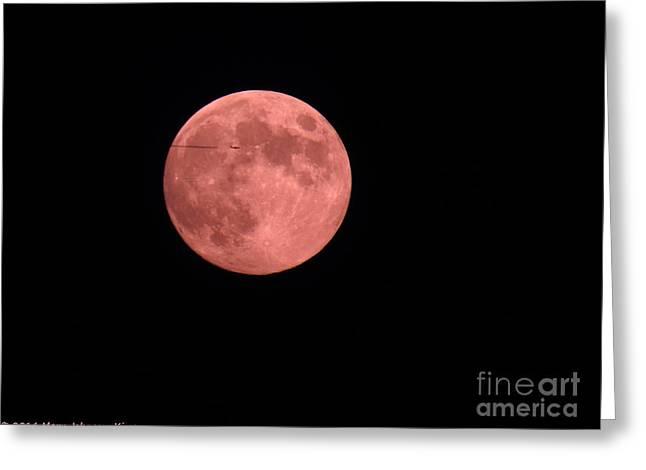 Pink Harvest Moon Greeting Card