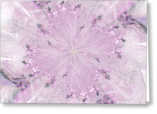 Pink Hibiscus Greeting Card by Victoria Harrington