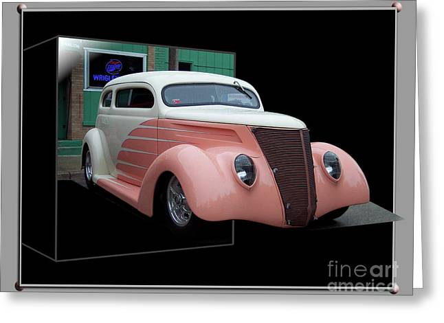 Pink Hot Rod 01 Greeting Card