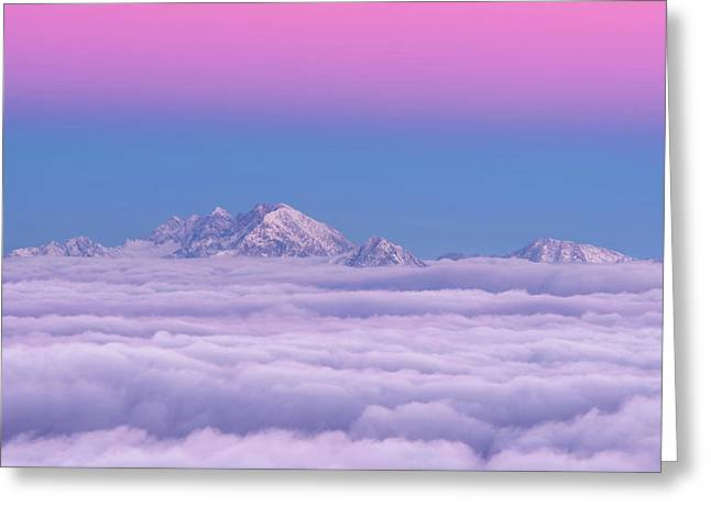 Pink In The Sky Greeting Card