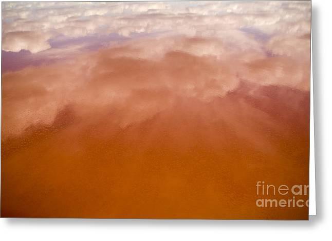 Pink Lake Greeting Card by Tim Hester