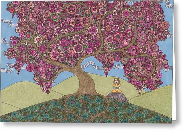 Pink Meditation Greeting Card