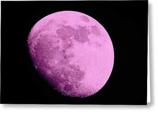 Pink Moon Greeting Card by Tom Gari Gallery-Three-Photography