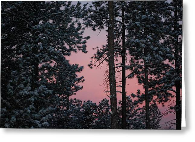 Pink Mountain Morning Greeting Card