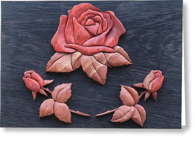 Pink My Lady Rose Greeting Card by Bill Fugerer