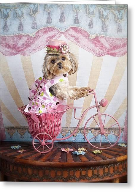 Pink Peddler Greeting Card