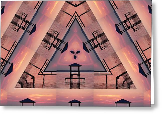 Pink Pier Kaleidoscope Two  Greeting Card