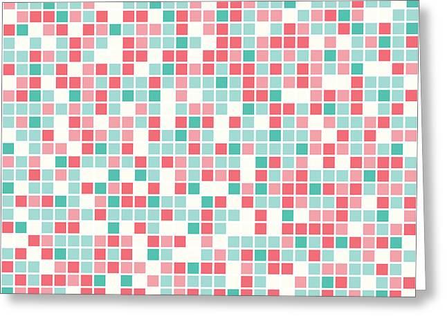 Pink Pixel Art Greeting Card