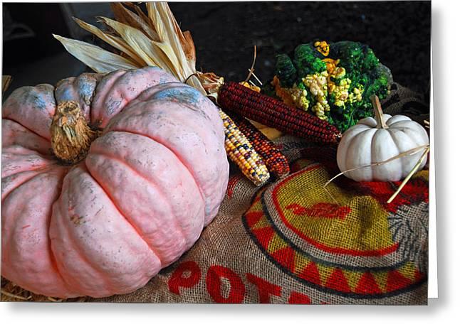 Pink Pumpkin Greeting Card
