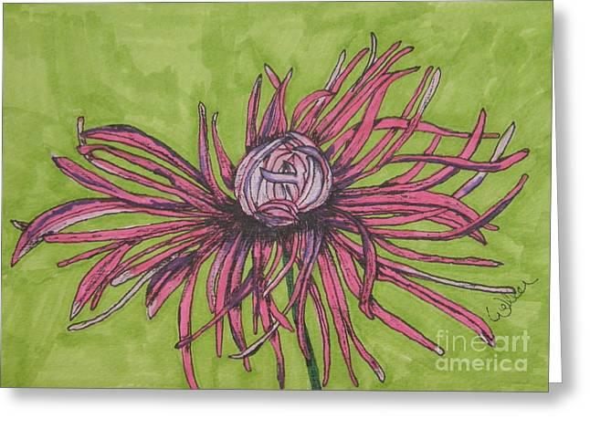 Pink Rhapsody Greeting Card by Marcia Weller-Wenbert