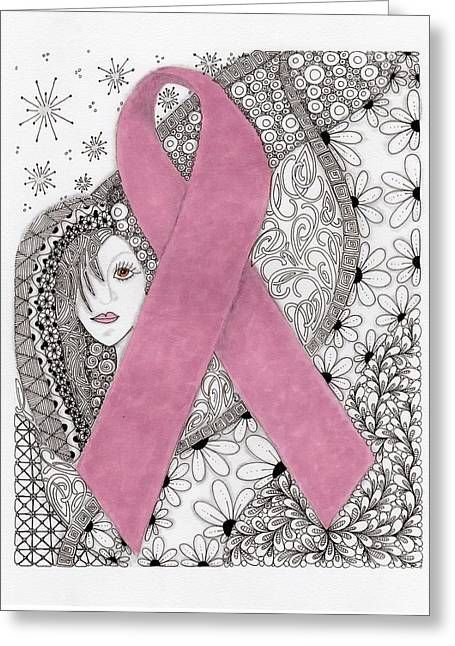 Pink Ribbon Greeting Card