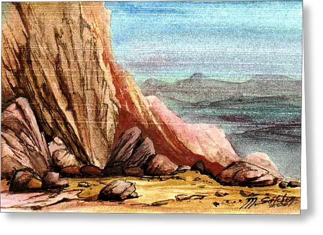 Pink Rocks Greeting Card by Mikhail Savchenko