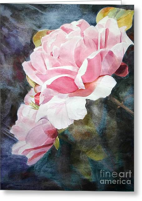 Pink Rose Caroline Greeting Card