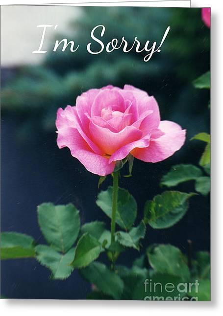 Pink Rose Greeting Card Greeting Card by Ellen Stanton