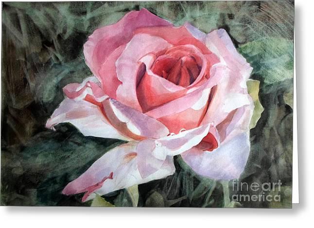 Pink Rose Greg Greeting Card