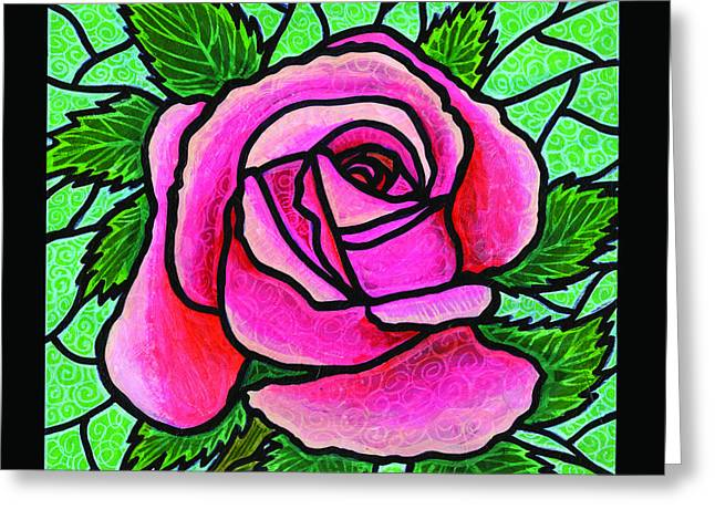 Pink Rose Number 5 Greeting Card by Jim Harris