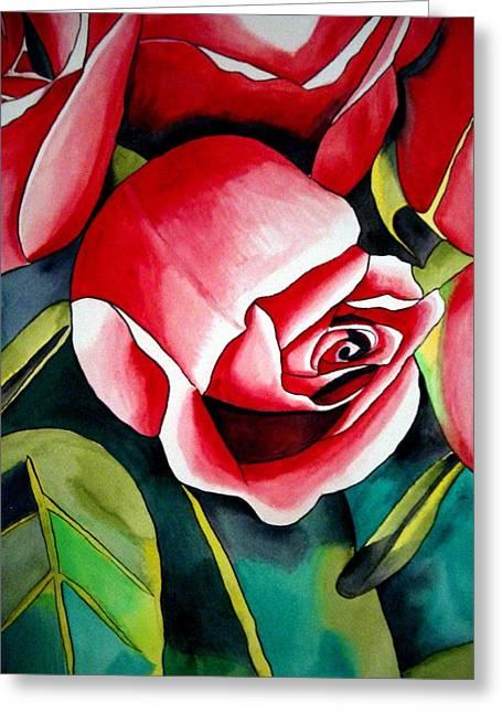 Pink Rosebud Greeting Card by Sacha Grossel
