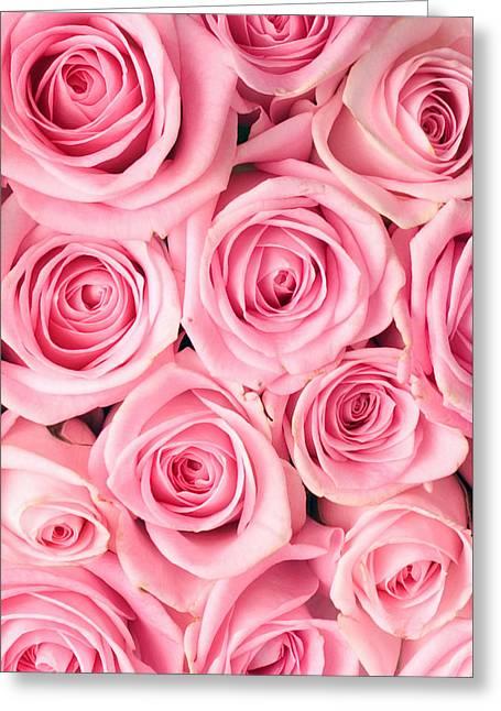 Pink Roses Greeting Card by Munir Alawi