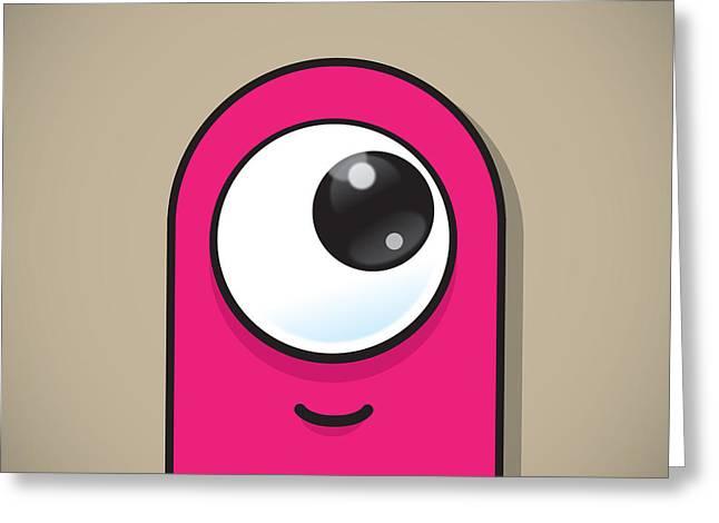 Pink Greeting Card