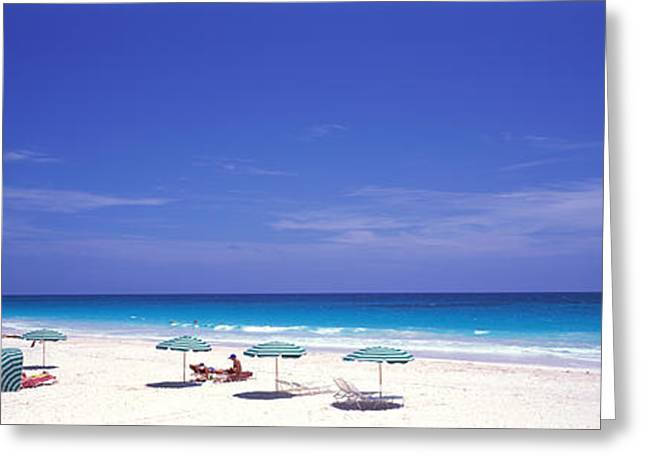 Pink Sand Beach, Harbour Island, Bahamas Greeting Card by Panoramic Images