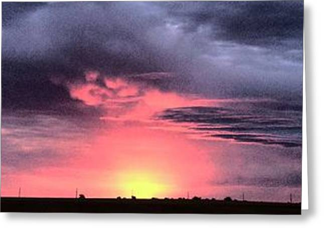 Pink Skies In Stanhope Greeting Card by Garren Zanker