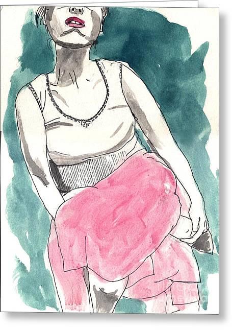 Pink Skirt Greeting Card
