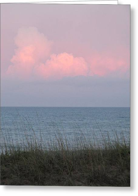 Pink Sky Greeting Card by Cheryl Smith