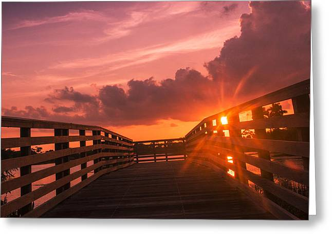 Pink Sky Sunset Greeting Card by Don Durfee