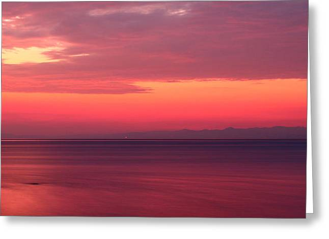 Pink Sunrise  Greeting Card by Leyla Ismet