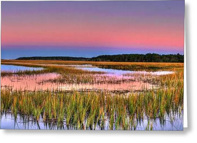 Pink Sunset Greeting Card by Ed Roberts