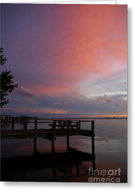 Greeting Card featuring the photograph Pink Sunset by Tannis  Baldwin