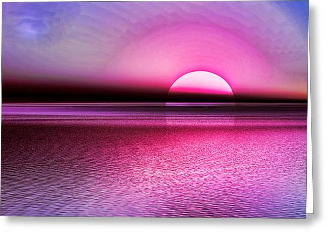 Pink Sunset Greeting Card by Tyler Robbins