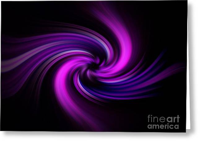 Greeting Card featuring the digital art Pink Swirl by Trena Mara