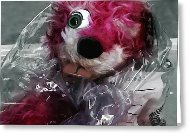 Pink Teddy Bear In Evidence Bag @ Tv Serie Breaking Bad Greeting Card