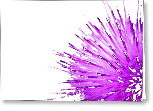 Pink Thistle  Greeting Card