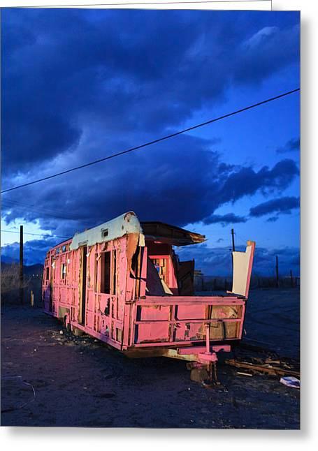 Pink To Sleep Airstream Travel Trailer Greeting Card