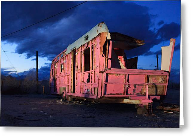 Pink To The Side Air Stream Travel Trailer Greeting Card