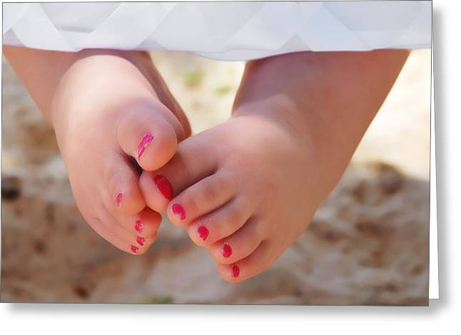 Pink Toes Greeting Card