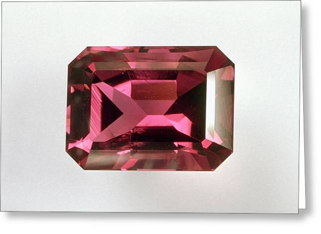 Pink Tourmaline Greeting Card by Dorling Kindersley/uig