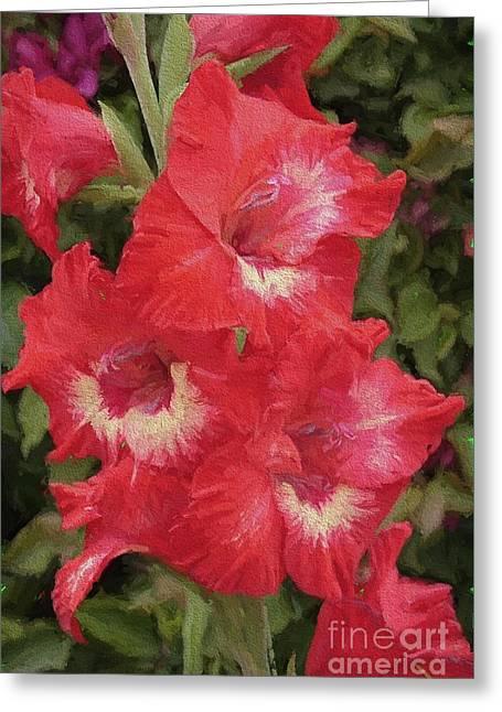 Pink Trumpet Painting In Digital Oil Greeting Card