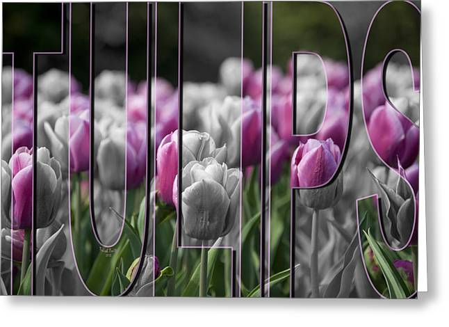 Pink Tulips Greeting Card by Trish Tritz