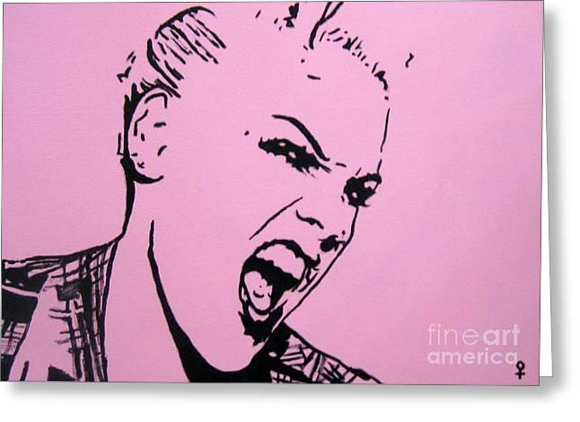 Pink Greeting Card by Venus