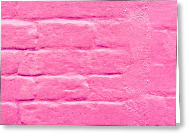 Pink Wall Greeting Card by Tom Gowanlock